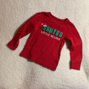 Santa's Little Helper Long Sleeve Tee, size 24 mo.